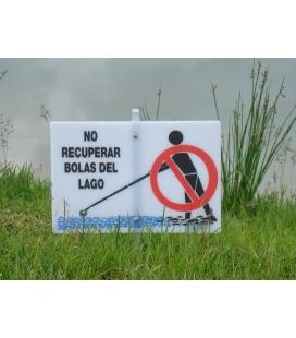 SEÑALES LAGOS / AGUA 30x20cm