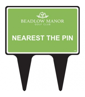NEAREST THE PIN SIGN
