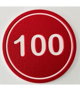 DISCO CALLE 100 DE 20cm