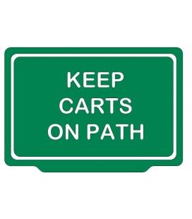 KEEP CARTS ON PATH