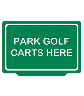 PARK GOLF CARTS HERE